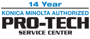 14 year konica minolta authorized protech service center