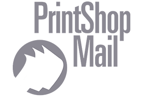 PrintShop mail grey logo